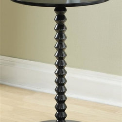 Tag Furniture Group - Archer Round Table (Black) - Color: BlackSolid wood support. Base with metal plate for additional stability. Made from MDF. Minimal assembly required. 5.25 in. Dia. x 22 in. H (10 lbs.)
