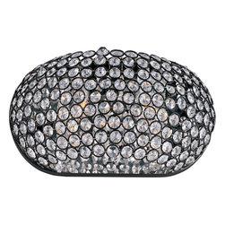 Joshua Marshal - Two Light Bronze Beveled Crystal Glass Wall Light - Two Light Bronze Beveled Crystal Glass Wall Light