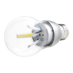 E27 LED Bulb - 13W - E27-xW42SMD-G series globe type LED replacement bulb for traditional medium screw base lamps. Consumes 12.6 Watts of power using 42 high power 5630SMD White LEDs. Closeout Item - Could develop a thin layer of condensation on the inside of the glass envelope - fully functional with full warranty
