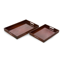 iMax - iMax Calliope Serving Trays - Set of 2 X-2-29013 - Simple yet sophisticated set of 2 serving trays