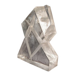 Art - This Lucite sculpture features an angular, geometric form made more delicate by structural details found within the Lucite. With a closer look, one can see intersecting lines and shapes within the Lucite piece, as well as a cylindrical hole drilled into the side. This interpretive sculpture, most likely created in the 1970s , has a completely smooth finish. - See more at: http://www.galeriesommerlath.com/inventory/unusual-lucite-sculpture/#sthash.KiDUqnPc.dpuf