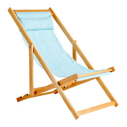 Gallant & Jones - Aroa Chair - Deck chair with Fabric Sling and Pillow