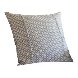 Taylor Linens - Charleston Grey Euro Sham - Sweet dreams are made of this. Inspired by vintage cross-stitch, the geometric pattern of this sham looks thoroughly modern in versatile gray and white, making it an easy fit for any bedroom. Hold your head up — in style.