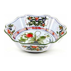 Artistica - Hand Made in Italy - Faenza: Serving Salad/Pasta Bowl - Faenza Collection: