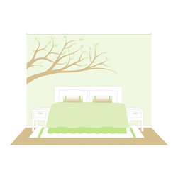 Elephants on the Wall - Branches Wall Mural - Branches Wall Mural Simply wonderful. Bring a little nature into any room with this simple paint-by-number wall mural. Choose whatever colors you like. Go BOLD with high contrasting colors or go for a soft subtle look for a more sopisticated room decor.