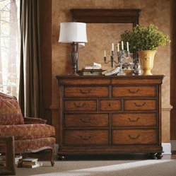 Louis Philippe 11 Drawer Dresser