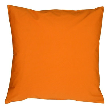 Pillow Decor - Pillow Decor - Caravan Cotton Orange 16 x 16 Throw Pillow - Bold and beautiful, the Caravan Cotton 16 x 16 Throw Pillows are the ideal pillows for adding a simple splash of color to your decor. With 3% spandex added to improve durability and wash ability, these soft cotton pillows will provide long lasting comfort.