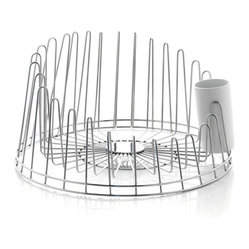 Alessi - Alessi 'A Tempo' Dish Drainer - When brilliant design comes to everyday items, you breeze through your chores with a smile — and a song. Case in point ... this polished, stainless-steel dish drainer is truly inspired by a musical crescendo.