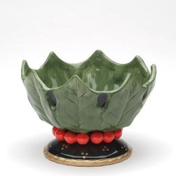 ATD - Christmas Holiday Green Holly Leaf Designed Decorative Candy Bowl - This gorgeous Christmas Holiday Green Holly Leaf Designed Decorative Candy Bowl has the finest details and highest quality you will find anywhere! Christmas Holiday Green Holly Leaf Designed Decorative Candy Bowl is truly remarkable.