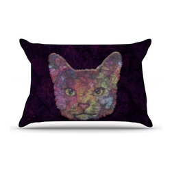 "Kess InHouse - Ancello ""Rainbow Cat"" Pastel Purple Pillow Case, Standard (30"" x 20"") - This pillowcase, is just as bunny soft as the Kess InHouse duvet. It's made of microfiber velvety fleece. This machine washable fleece pillow case is the perfect accent to any duvet. Be your Bed's Curator."