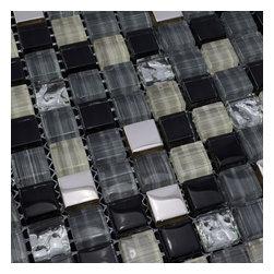 Home Elements - Glass Mosaic Tile, 1 Square Foot - Product Description: