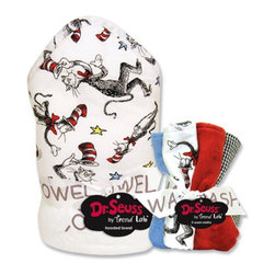 Trend Lab LLC - Trend Lab Dr Seuss Cat In The Hat Bouquet Set and 5 Pack of Wash Cloths Multicol - Shop for Towels from Hayneedle.com! For your little Thing One or Thing Two the Trend Lab Dr Seuss Cat In The Hat Bouquet Set and 5 Pack of Wash Cloths has bath time covered. Each piece is made with soft terry cloth so that cleaning is gentle and drying off is fluffy. Caution - hooded towel can cause prolonged cuddling. Trend Lab will replace any defective products within 30 days of original purchase.About Trend LabBegun in 2001 in Minnesota Trend Lab is a privately held company proudly owned by women. Rapid growth in the past five years has put Trend Lab products on the shelves of major retailers and the company continues to develop thoroughly tested high-quality baby and children's bedding decor and other items. With mature professionals at the helm of this business Trend Lab continues to inspire and provide its customers with stylish products for little ones. From bedding to cribs and everything in between Trend Lab is the right choice for your children.