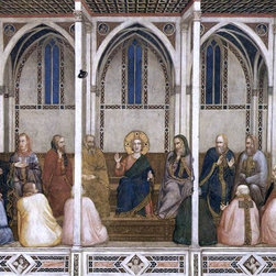 """Giotto Di Bondone Christ Among the Doctors Print - 16"""" x 20"""" Giotto Di Bondone Christ Among the Doctors (North transept, Lower Church, San Francesco, Assisi) premium archival print reproduced to meet museum quality standards. Our museum quality archival prints are produced using high-precision print technology for a more accurate reproduction printed on high quality, heavyweight matte presentation paper with fade-resistant, archival inks. Our progressive business model allows us to offer works of art to you at the best wholesale pricing, significantly less than art gallery prices, affordable to all. This line of artwork is produced with extra white border space (if you choose to have it framed, for your framer to work with to frame properly or utilize a larger mat and/or frame).  We present a comprehensive collection of exceptional art reproductions byGiotto Di Bondone."""