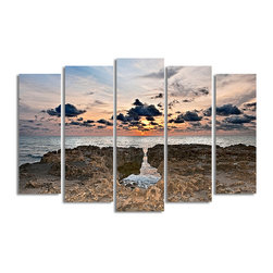 Ready2HangArt - Ready2hangart Bruce Bain 'Sunset Rock' Canvas Wall Art - This beautiful canvas wall art is from photographer Bruce Bain. His work employs elements of imagination to capture a variety of subjects. It is fully finished, arriving ready to hang on the wall of your choice.