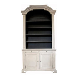 Piere Hutch, White Weathered Noir - A great bookshelf will be in your baby's room until they leave for college. For now, display your favorite children's books and use baskets to wrangle tiny shoes and socks.