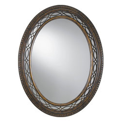 Murray Feiss - Murray Feiss MR1066WAL Edwardian Oval Mirror - This collection is a fresh interpretation of 18th century English design. Georgian and Edwardian details are found in the overlapping curve fretwork used both in the glass surrounds and the upper arms. This detail is found on window sidelights used on either side of a door or the transom window used above a door. You will also see similar fretwork used in furniture and accessories such as silver trays from 18th century England.