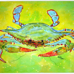 Caroline's Treasures - Bright Green Blue Crab Glass Cutting Board Large Size - Large Cutting Board .. . Made of tempered glass, these unique cutting boards are some of your favorite artists prints. 15 inches high and 12 inches long, they will beautify and protect your counter top. Heat resistant, non skid feet, and virtually unbreakable!