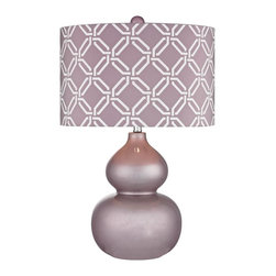 Joshua Marshal - One Light Lilac Luster Lilac With White Pattern Print, Silken Fabric S - One Light Lilac Luster Lilac With White Pattern Print, Silken Fabric S