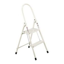 Louisville Qwik Step Steel Folding Step Stool - Use the Louisville Qwik Step Steel Folding Step Stool for household chores or quick lifts for easy access. This steel stool features a quick-step feature and serrated steps for stability and ease of use. A loop top handrail adds safety. Folds flat for easy storage and transport.About Louisville LadderSince 1946, Louisville Ladder has been a leader in ladder manufacturing and distribution. Through innovation and invention, Louisville has become a world-wide name with many of its products being the first of their kind. Today, Louisville continues to develop, market, and distribute the highest quality products with a strong distribution presence in the US and Canada.