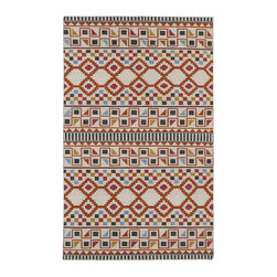"""Kaleen - Kaleen Nomad Collection Nom08-53 5'X8' Paprika - Traveling the world or buying your first new home, we all love the excitement of a new adventure in our life. The """"Nomad"""" collection comes with a trendy sense of fashion, combined with sophistication and style. Geo prints, worldly designs, and classic motifs bring out the Nomad in all of us! 100% Wool Flatweave, Handmade in India"""