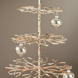 "3 Tier Designer Tree - Brushed Gold with Hand Applied Accents, 28"" Tall, Home De - Our magnificent 3 Tier Designer Tree has a vast amount of hanging positions to display products."