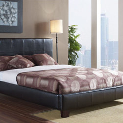 "dCOR design - Cape Cod Panel Bed - Features: -Contemporary style.-Hand crafted individual stitched square pattern.-High density and high quality inner foam.-Solid wood feet.-Solid wood slat and support system.-Bolted side rail connections.-Solid wood frame construction.-Cape Code Collection.-Chocolate finish.-Pearl finish.-Solid Wood Construction: Yes.-Upholstered: Yes -Upholstered Section: Headboard, footboard, frame.-Upholstery Material: Leather.-Upholstery Fill Material: High density, high quality inner foam..-Mattress Included: No.-Box Spring Required: Yes -Boxspring Included: No..-Headboard Storage: No.-Trundle Bed Included: No.-Attached Nightstand: No.-Built in Outlets: No.-Lighted Headboard: No.-Distressed: No.-Eco-Friendly: Yes.-Canopy Frame: No.-Hidden Storage: No.-Swatch Available: Yes.Specifications: -CA foam tested and CARB certified.-CARB Compliant: Yes.Dimensions: -Overall Height - Top to Bottom (Size: California King): 42.5"".-Overall Height - Top to Bottom (Size: Full): 42.5"".-Overall Height - Top to Bottom (Size: King): 42.5"".-Overall Height - Top to Bottom (Size: Queen): 42.5"".-Overall Width - Side to Side (Size: California King): 77"".-Overall Width - Side to Side (Size: Full): 59"".-Overall Width - Side to Side (Size: King): 81"".-Overall Width - Side to Side (Size: Queen): 65"".-Overall Depth - Front to Back (Size: California King): 89"".-Overall Depth - Front to Back (Size: Full): 79"".-Overall Depth - Front to Back (Size: King): 85"".-Overall Depth - Front to Back (Size: Queen): 85"".-Overall Product Weight (Size: California King): 104 lbs.-Overall Product Weight (Size: Full): 88 lbs.-Overall Product Weight (Size: King): 107 lbs.-Overall Product Weight (Size: Queen): 91 lbs.-Shelving: No.-Drawer: No.-Cabinet: No.-Trundle Bed: No.Assembly: -Metal on metal hook on assembly.-Assembly Required: Yes."