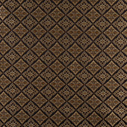 Midnight Gold And Ivory Diamond Brocade Upholstery Fabric By The Yard - This beautiful traditional brocade fabric is luxury at its finest. This fabric is very durable while also providing the look of elegance to any space.