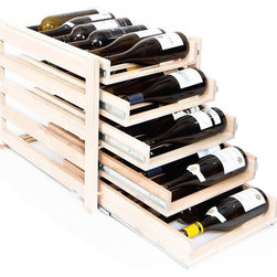Wine Logic - Wine Logic Wine Rack Home Storage 30 Bottles - Wine Logic wine racks approach home wine storage with thoughtful design, quality craftsmanship and a connoisseur's insight. The result is a high-end wine storage solution that easily resolves the challenges of space, clutter, cost and more.