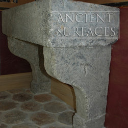 Antique Limestone and Marble Sinks - Images by 'Ancient Surfaces'