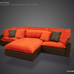 CINEAK Intimo Modular Entertainment Sofa - Comfort, flexibility, design and much more … This unique sectional sofa adds a new concept in seating for the home entertainment environment.