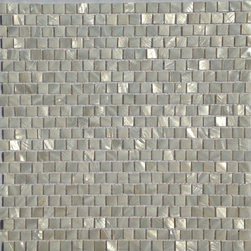 Cape Cod Collection: Polished Haisa Wooden Vein Tight Joint Marble Mosaic Tile - Mother of pearl tiles add new and unique elegance to your bathroom, backsplash, headboard, and more. Our Mother of Pearl tiles are handmade from genuine natural freshwater pearls. Although Mother of Pearl tiles are naturally thin, they are very strong and durable as well as easy to install in kitchens, bathrooms, and pools.
