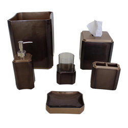 Online shopping for furniture decor and home for Brown and gold bathroom sets