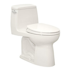 Toto - Toto | Eco UltraMax One-Piece Toilet - Made by TOTO USA.The Eco UltraMax One-Piece Toilet helps to save water in modern bathrooms. This high-quality toilet features a low consumption flushing system that preserves natural resources without sacrificing power. Complete with chrome trip lever and elongated soft close seat. Features: