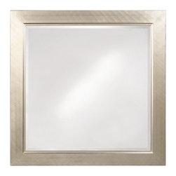 Howard Elliott - Millennium Mirror in Silver Leaf - Frame Size: 40 in. x 40 in.