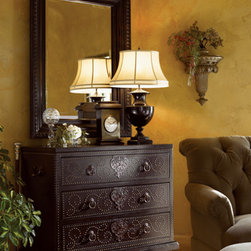 Lexington Home Brands - Tortola Chest - With nailhead trim strewn across its surface like strings of pearls, the Tortola Chest speaks of riches and exotic locales with a design that is lushly wrapped in leather and highlighted with elaborate keyhole escutcheons.