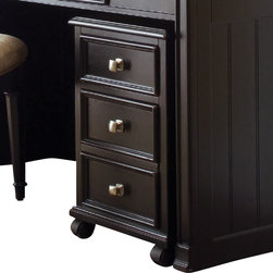 American Drew - American Drew Camden-Dark File/Drawer Cabinet in Black - The Camden-Dark accents simple forms with quiet traditional references, gentle curves and a beautiful rustic black finish that lets the character of the wood show through. The brushed nickel finish hardware adds even more character to Camden. This collection will work great in most any setting. Create an urban rustic loft, a classic antique look or a mountain vacation home.