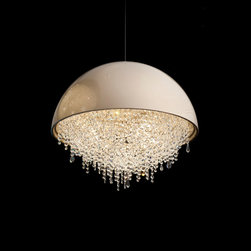 Loft in the city - Hand crafter dome and bohemian brilliant crystals. with G19 bulbs ( Halogen ). choices of size, color and  with or without Crystal available . International delivery available.