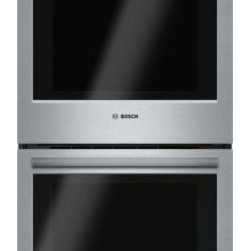 """Bosch - 800 Series  HBN8651UC 27"""" Electric Double Wall Oven with 4.1 cu. ft.  Full-Exten - Boschs 800 Series 27 Double Wall Oven installs flush and features a SmoothClose door The dampened hinges softly and quietly guide the SmoothClose door shut The touch controls with SteelTouch buttons makes operating the oven easier while the full-exte..."""