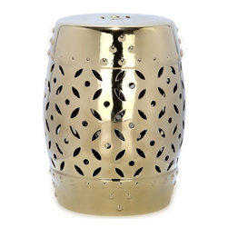 Safavieh Paradise Harmony Gold Ceramic Garden Stool - I love the shiny gold finish on this stool. It would be great as extra seating or a side table.