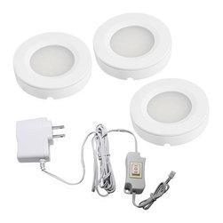 TorchStar - Set of 3 LED Under Cabinet Lighting Kit - 2Watt LED Puck Lights - Overview