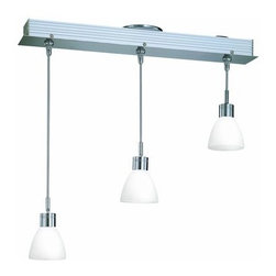 Lite Source - Lite Source LS-19473FRO 3 Light Ceiling Lamp - 3 Light Ceiling Lamp with Frost Glass Shade from the Catina Series