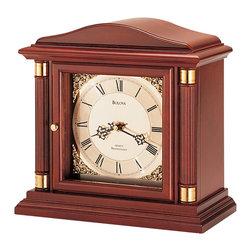 BULOVA - Bulova Bramley Mantel Clock Model B1843 - Solid wood case, walnut finish