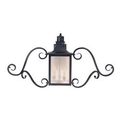 Karyl Pierce Paxton - Karyl Pierce Paxton 5-253-25 Monte Grande Transitional Outdoor Wall Sconce with - Our extremely popular Monte Grande design is now available in this new Slate finish with Pale Cream Seeded glass.