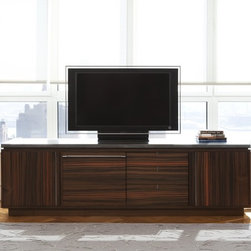 Wud Media Cabinet - Australian Walnut, Cold Rolled Steel, Pb-R (Lead Encased in Resin)