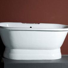 Modern Bathtubs Ave Dual Bath Tub on Pedestal