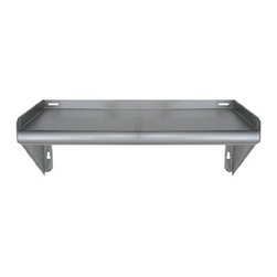 """Whitehaus Collection - Whitehaus CUWSKD24 24"""" Culinary Equipment knock down stainless steel shelf - Stainless Steel knock down wall mount shelf"""