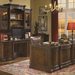 Aspenhome Furniture Hathaway Hill Home Office Collection - This collection is constructed with Cherry veneers and completed in a warm, deep brown Black Truffle finish. A thorough amount of storage drawers on the pieces are accented with silver matte ring pull hardware. Smooth sweeping lines, beveled molding around the edges of these pieces, as well as inset panel sides, accent the collection in sleek and complementary ways.