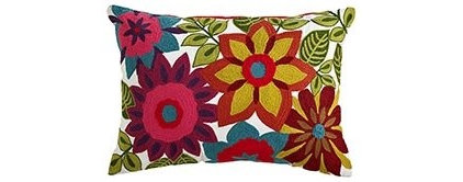 tropical pillows by Pier 1 Imports