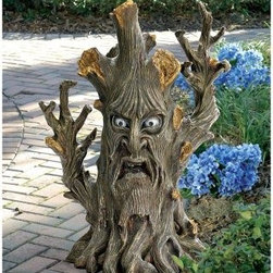 Design Toscano Bark the Black Forest Ent Tree Garden Statue - The Bark the Black Forest Ent Tree Garden Statue adds a touch of Tolkien to any setting. This fantastical statue is hand-painted and features intricate details. It is made of durable resin and is perfect for outdoor gardens or patios.About Design Toscano: Design Toscano is the country's premier source for statues and other historical and antique replicas, which are available through our catalog and website.We were named in Inc. magazine's list of the 500 fastest growing privately-held companies for three consecutive years - an honor unprecedented among catalogers.Our founders, Michael and Marilyn Stopka, created Design Toscano in 1990. While on a trip to Paris, the Stopkas first saw the marvelous carvings of gargoyles and water spouts at the Notre Dame Cathedral. Inspired by the beauty and mystery of these pieces, they decided to introduce the world of medieval gargoyles to America in 1993. On a later trip to Albi, France, the Stopkas had the pleasure of being exposed to the world of Jacquard tapestries that they added quickly to the growing catalog. Since then, our product line has grown to include Egyptian, Medieval and other period pieces that are now among the current favorites of Design Toscano customers, along with an extensive collection of garden fountains, statuary, authentic canvas replicas of oil painting masterpieces, and other antique art reproductions.At Design Toscano, we pride ourselves on attention to detail by traveling directly to the source for all historical replicas. Over 90% of our catalog offerings are exclusive to the Design Toscano brand, allowing us to present unusual decorative items unavailable elsewhere. Our attention to detail extends throughout the company, especially in the areas of customer service and shipping.