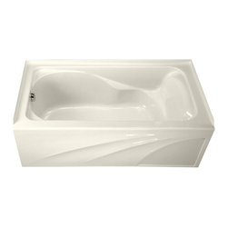 "American Standard - American Standard 2776.202.222 Cadet 5 x 32 W/ Integral Apron Bath Tub, Linen - American Standard 2776.202.222 Cadet 5 x 32 With Integral Apron Bath Tub,  Linen. This tub features an acrylic construction with fiberglass reinforcement, an integral apron, an integral 3-sided tile/water retention flange, and dual molded-in armrests with elbow supports. It measures 59-7/8"" by 32"" by 20"", and comes with a left-sided outlet."